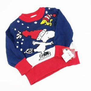 Snoopy Peanuts Infant Winter Sweater Size 12M